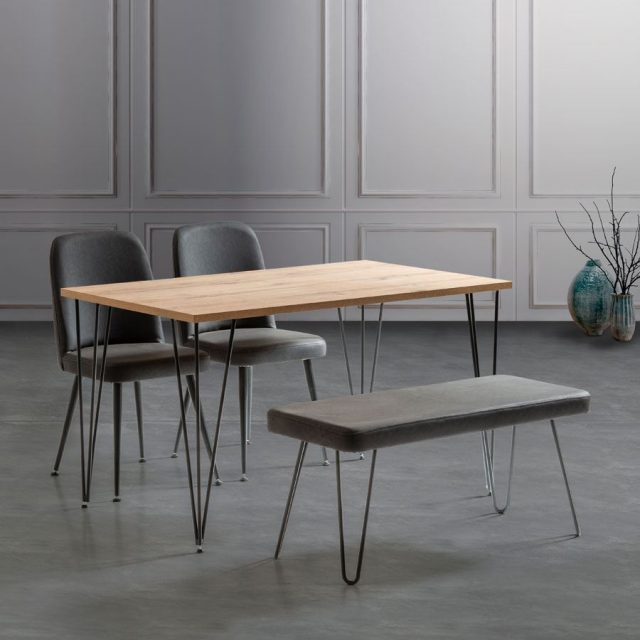 MADRİS 2 SANDALYE VE BENCH SETİ